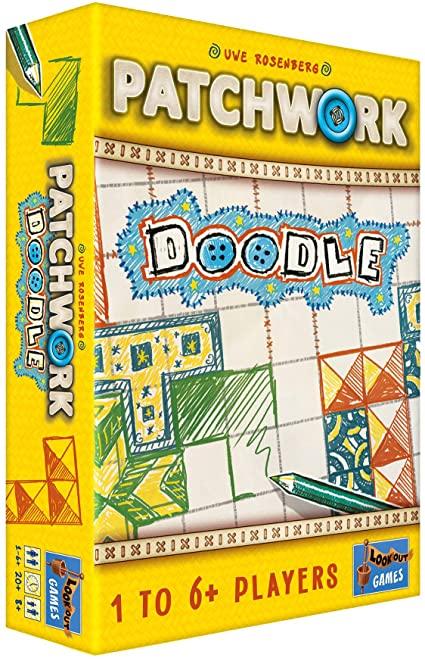Patchwork doodle board game